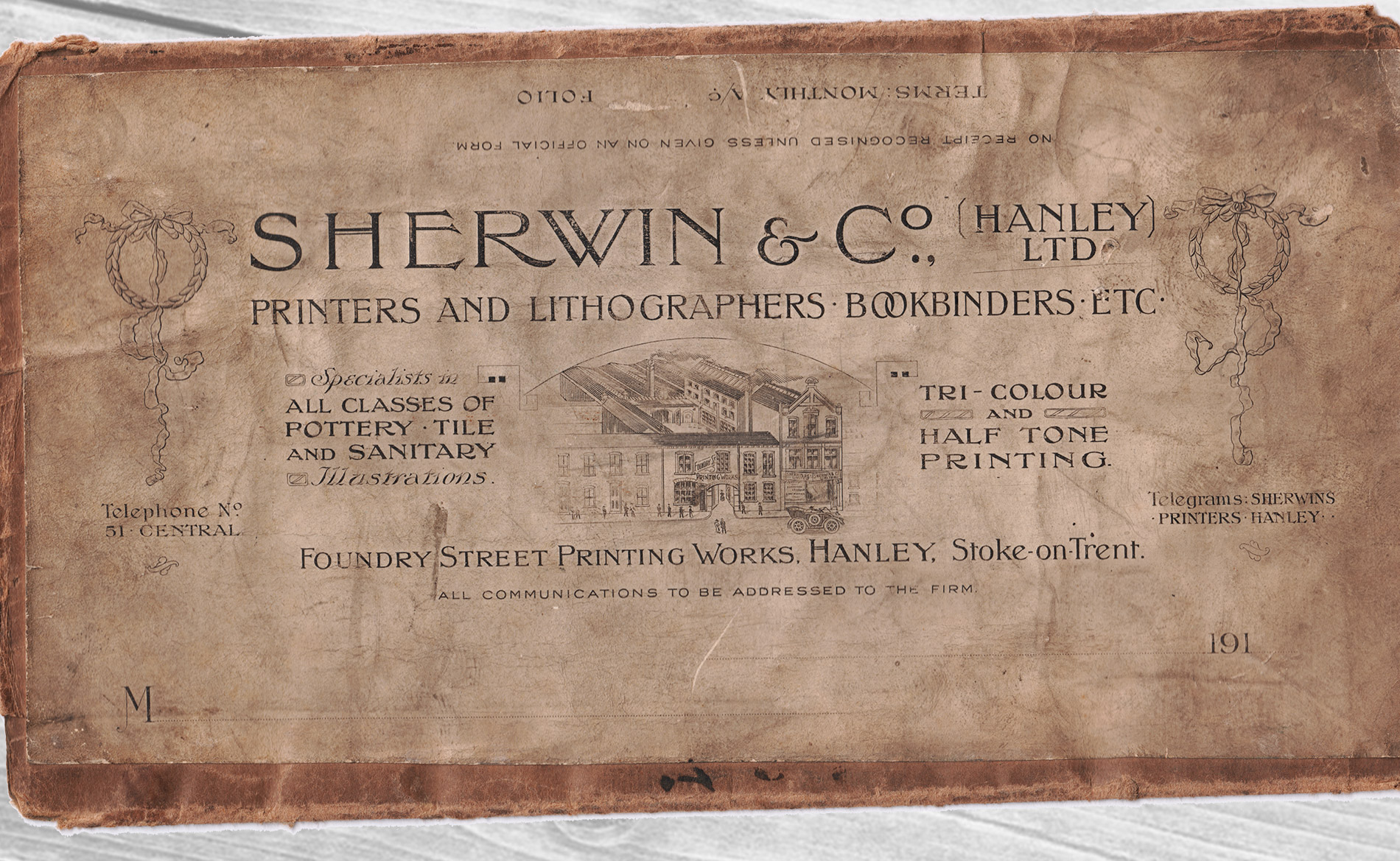 Sherwin Rivers Printers Ltd - Stoke-on-Trent, Staffordshire, Family run printing company for over a century - Sherwin & Co Packaging from the turn of the 19th century
