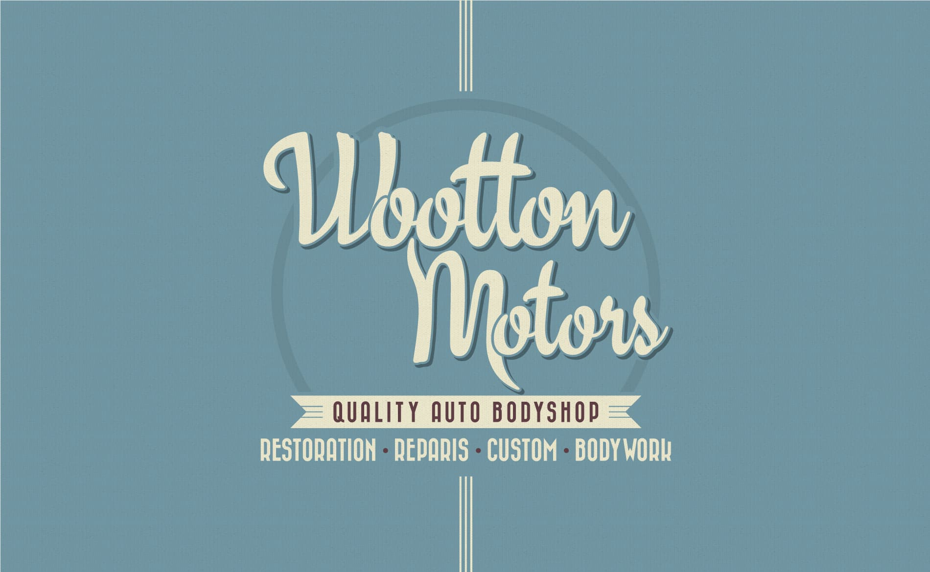 Graphic Design and Branding Services Wootton Motors Mechanics Logo Design