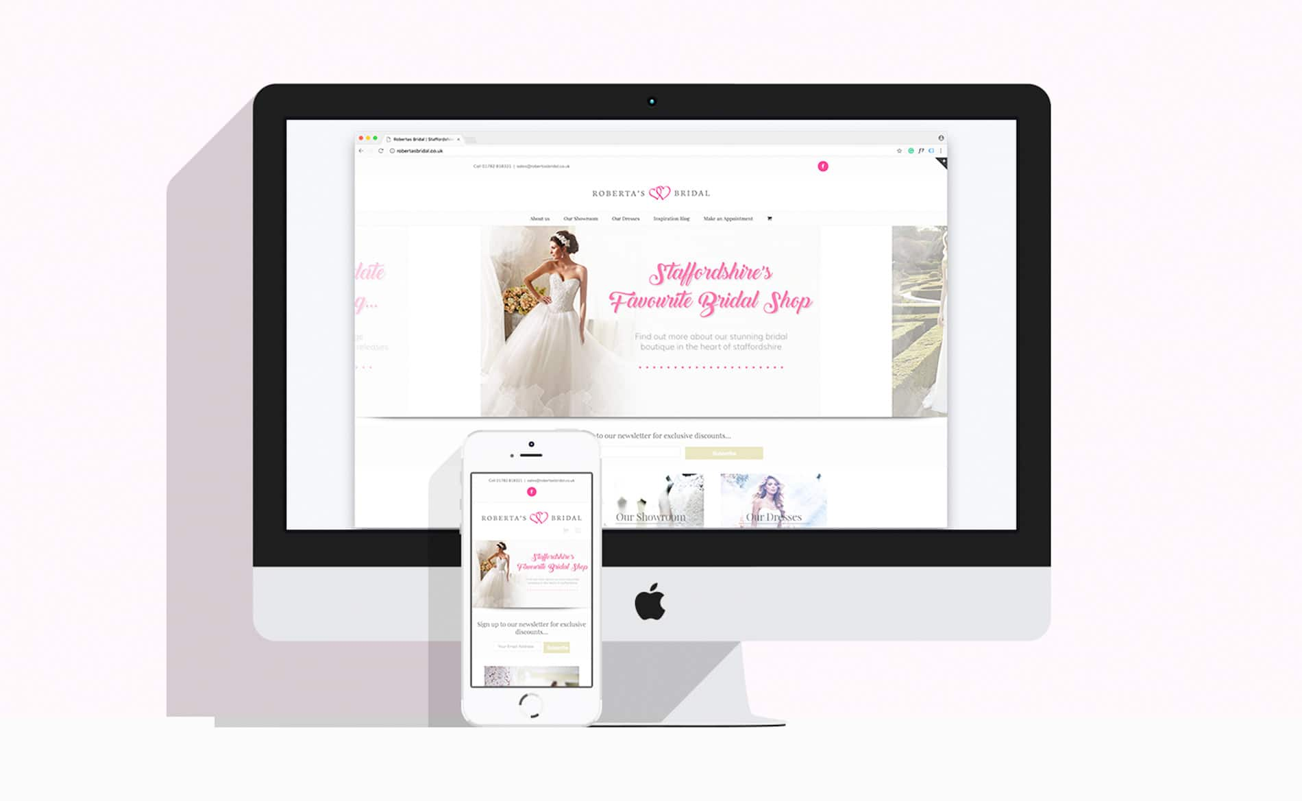 Web & Graphic Design - Staffordshire, Robertas Bridal