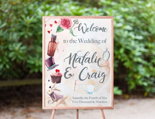 Natalie & Craig – Welcome Sign