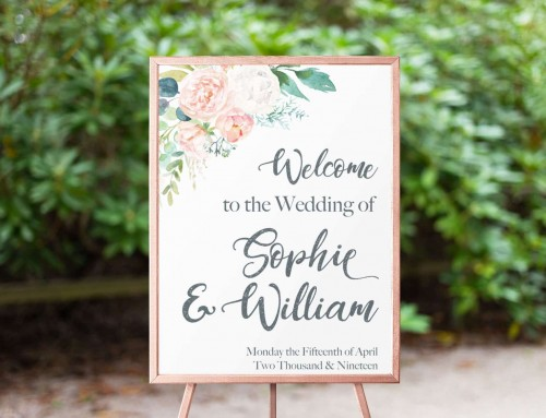 Sophie & William – Welcome Sign